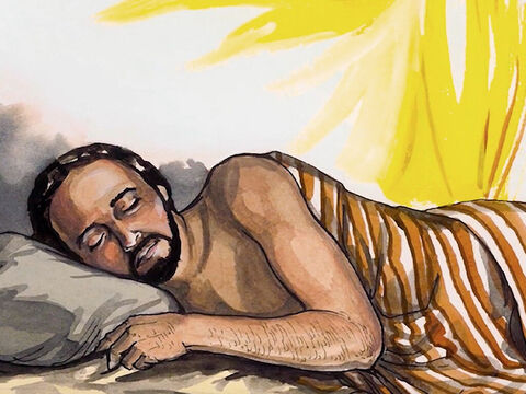 When He had contemplated this, an angel of the Lord appeared to him in a dream and said, – Slide 2