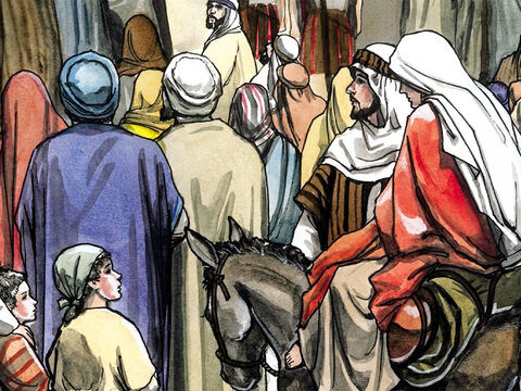 He went to be registered with Mary, who was promised in marriage to him, and who was expecting a child. – Slide 3