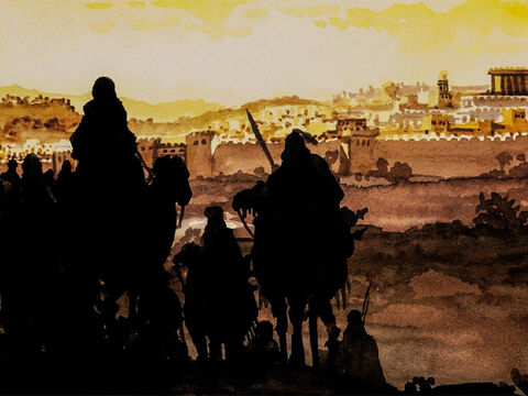 … in the time of King Herod, Wise Men from the East came to Jerusalem saying … – Slide 2