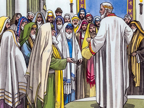 """After assembling all the chief priests and experts in the law, he asked them where the Christ was to be born. 'In Bethlehem of Judea,' they said, 'for it is written this way by the prophet (Micah): """"And you, Bethlehem, in the land of Judah, are in no way least among the rulers of Judah, for out of you will come a ruler who will shepherd my people Israel.""""' – Slide 4"""