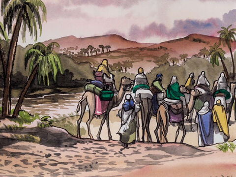 After being warned in a dream not to return to Herod, they went back by another route to their own country. – Slide 9