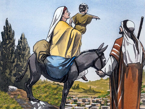 So he got up and took the child and His mother and returned to the land of Israel. But when he heard that Archelaus was reigning over Judea in place of his father Herod, he was afraid to go there. After being warned in a dream, he went to the regions of Galilee. – Slide 7