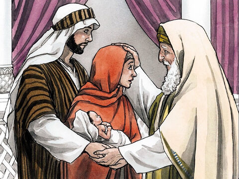 Then Simeon blessed them and said to His mother Mary, 'Listen carefully: This child is destined to be the cause of the falling and rising of many in Israel and to be a sign that will be rejected. Indeed, as a result of Him the thoughts of many hearts will be revealed – and a sword will pierce your own soul as well!' – Slide 8
