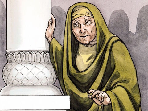 There was also a prophetess, Anna the daughter of Phanuel, of the tribe of Asher. She was very old, having been married to her husband for seven years until his death. – Slide 9