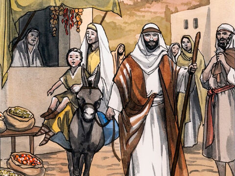 So when Joseph and Mary had performed everything according to the law of the Lord, they returned to Galilee, to their own town of Nazareth. – Slide 12