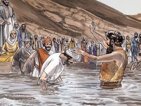 Then people from Jerusalem, as well as all Judea and all the region around the Jordan, were going out to him, and he was baptizing them in the Jordan River as they confessed their sins. – Slide 5