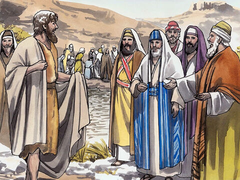 But when he saw many Pharisees and Sadducees coming to his baptism, he said to them, 'You offspring of vipers! Who warned you to flee from the coming wrath? – Slide 6