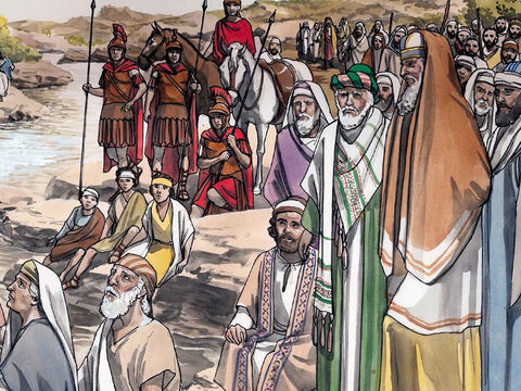 """'""""We have Abraham as our father."""" For I tell you that God can raise up children for Abraham from these stones! – Slide 8"""