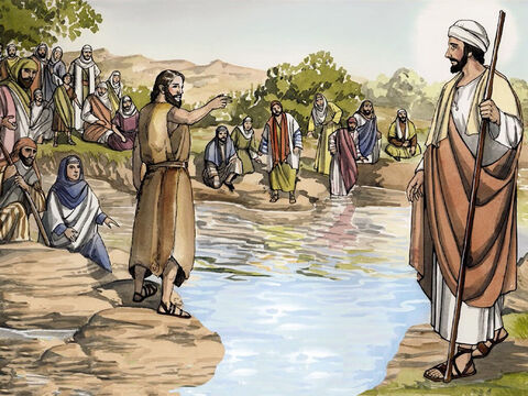 'I baptise you with water, for repentance, but the one coming after me is more powerful than I am … – Slide 10