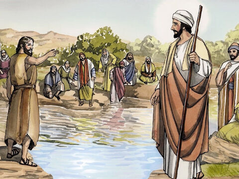 … I am not worthy to carry His sandals. He will baptise you with the Holy Spirit and fire. – Slide 11