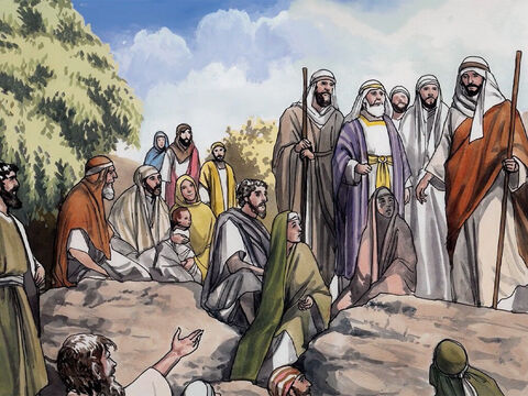But John tried to prevent Him, saying, 'I need to be baptised by you, and yet you come to me?' – Slide 2