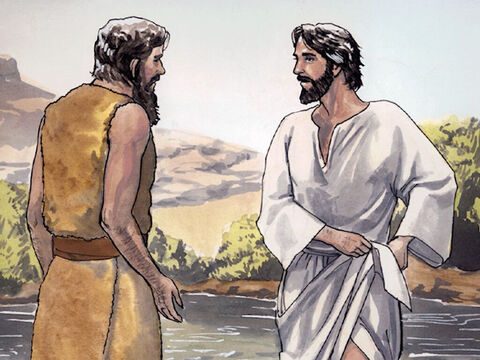 So Jesus replied to him, 'Let it happen now, for it is right for us to fulfill all righteousness.' – Slide 3