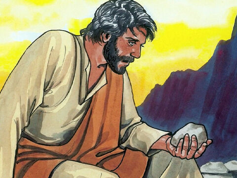 """The tempter came and said to Him, 'If you are the Son of God, command these stones to become bread.' But He answered, 'It is written, """"Man does not live by bread alone, but by every word that comes from the mouth of God.""""' – Slide 3"""