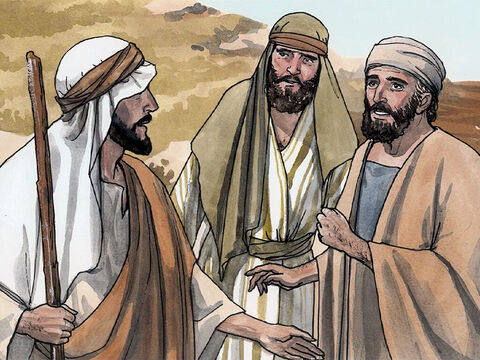 When John's two disciples heard him say this, they followed Jesus. Jesus turned around and saw them following and said to them, 'What do you want?' So they said to Him, 'Rabbi' (which is translated Teacher), 'where are you staying?' – Slide 2
