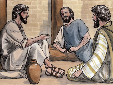 Jesus answered, 'Come and you will see.' So they came and saw where He was staying, and they stayed with Him that day. Now it was about four o'clock in the afternoon. – Slide 3