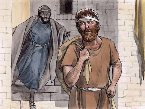 Andrew, the brother of Simon Peter, was one of the two disciples who heard what John said and followed Jesus. He first found his own brother Simon and told him, 'We have found the Messiah!' (which is translated 'Christ'). – Slide 4