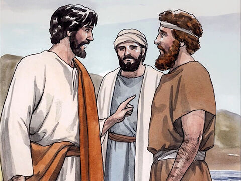 Andrew brought Simon to Jesus. Jesus looked at him and said, 'You are Simon, the son of John. You will be called Cephas' (which is translated 'Peter'). – Slide 5