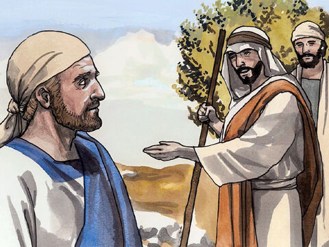 On the next day Jesus wanted to set out for Galilee. He found Philip and said to him, 'Follow me.' (Now Philip was from Bethsaida, the town of Andrew and Peter.) – Slide 6