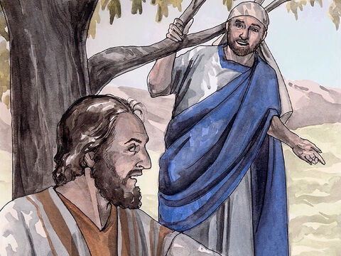 Philip found Nathanael and told him, 'We have found the one Moses wrote about in the law, and the prophets also wrote about – Jesus of Nazareth, the son of Joseph.' Nathanael replied, 'Can anything good come out of Nazareth?' Philip replied, 'Come and see.' – Slide 7