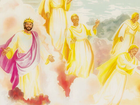 He continued, 'I tell all of you the solemn truth – you will see heaven opened and the angels of God ascending and descending on the Son of Man.' – Slide 11
