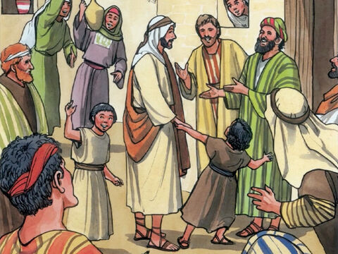 Jesus and His disciples were also invited to the wedding. – Slide 3