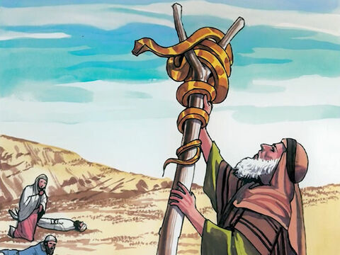 'Just as Moses lifted up the serpent in the wilderness… – Slide 11