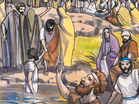 Now when Jesus knew that the Pharisees had heard that He was winning and baptising more disciples than John (although Jesus himself was not baptizing, but His disciples were), He left Judea and set out once more for Galilee. – Slide 1
