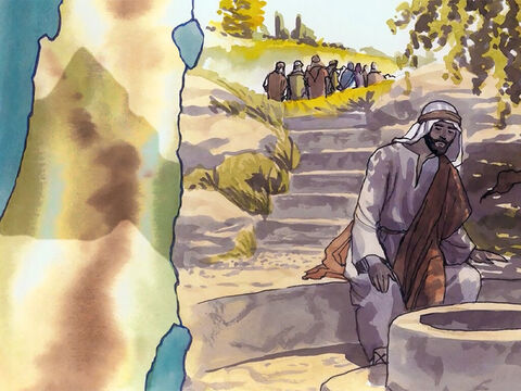 But He had to pass through Samaria. Now He came to a Samaritan town called Sychar … – Slide 2