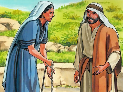 Jesus said to her, 'Go, call your husband and come back here.' – Slide 12