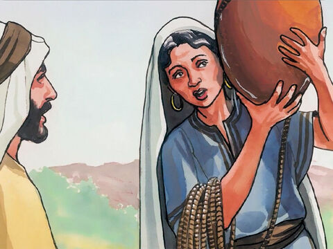 The woman replied, 'I have no husband.' – Slide 13