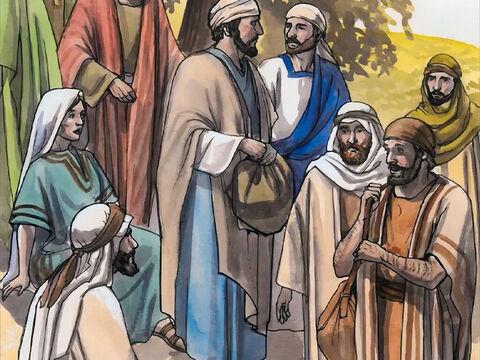 Now at that very moment His disciples came back. They were shocked because Jesus was speaking with a woman. However, no one said, 'What do you want?' or 'Why are you speaking with her?' – Slide 7