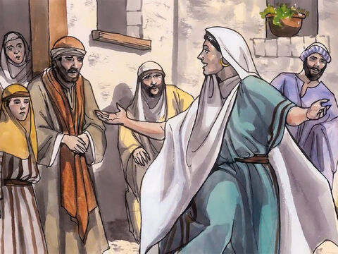 Then the woman left her water jar, went off into the town and said to the people, 'Come, see a man who told me everything I ever did. Surely He can't be the Messiah, can He?' So they left the town and began coming to Him. – Slide 8
