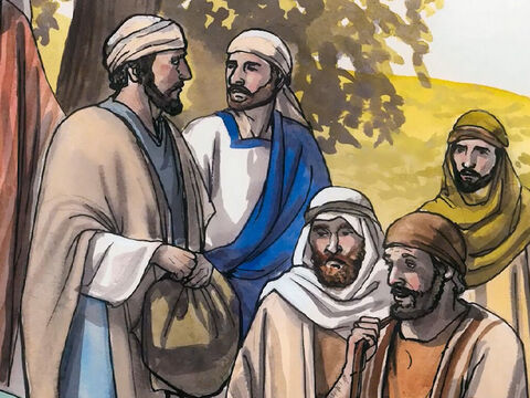 So the disciples began to say to one another, 'No one brought Him anything to eat, did they?' – Slide 10