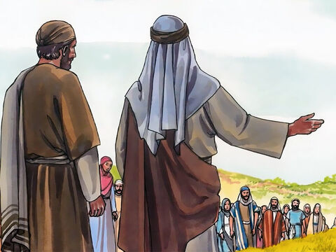 So when the Samaritans came to Jesus, they began asking Him to stay with them. – Slide 15