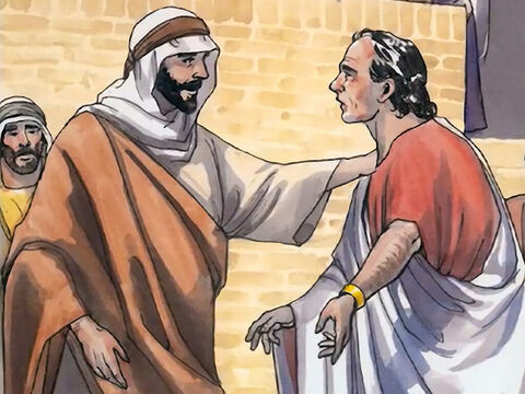 When he heard that Jesus had come back from Judea to Galilee, he went to Him and begged Jesus to come down and heal his son, who was about to die. – Slide 5