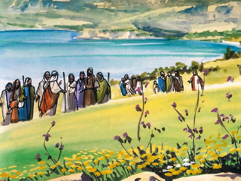 Then Jesus, in the power of the Spirit, returned to Galilee, and news about Him spread throughout the surrounding countryside. He began to teach in their synagogues and was praised by all. – Slide 1