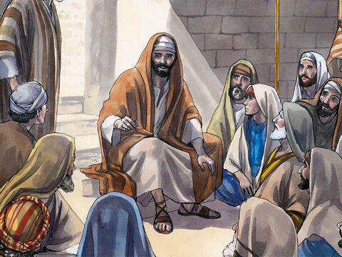 Then He rolled up the scroll, gave it back to the attendant, and sat down. The eyes of everyone in the synagogue were fixed on Him. Then He told them, 'Today this scripture has been fulfilled even as you heard it being read.' – Slide 6