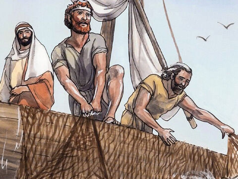 Simon answered, 'Master, we worked hard all night and caught nothing! But at your word I will lower the nets.' – Slide 6