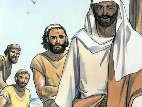 Then Jesus said to Simon, 'Do not be afraid, from now on you will be catching people.' – Slide 10