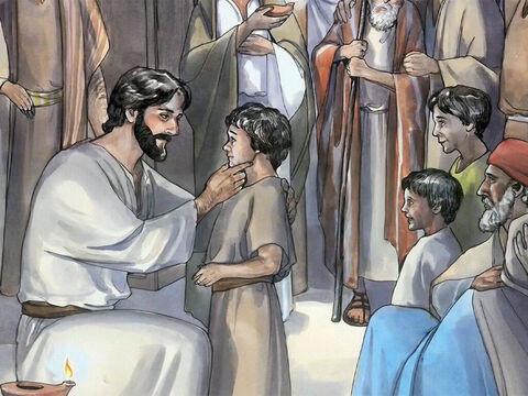 He placed His hands on every one of them and healed them. – Slide 6