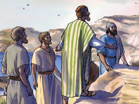 Yet the crowds were seeking Him, and they came to Jesus and tried to keep Him from leaving them. – Slide 9