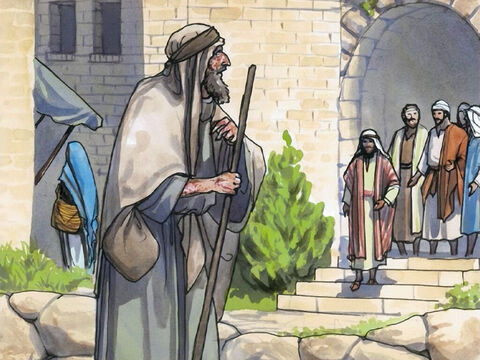 While Jesus was in one of the towns, a man came to Him who was covered with leprosy. – Slide 1