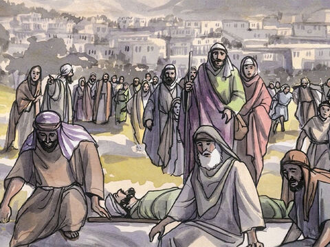 But the news about Him spread even more, and large crowds were gathering together to hear Him and to be healed of their illnesses. – Slide 6