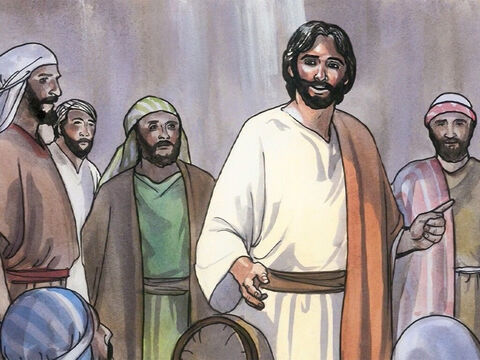 """When Jesus perceived their hostile thoughts, he said to them, 'Why are you raising objections within yourselves? Which is easier, to say, """"Your sins are forgiven,"""" or to say, """"Stand up and walk?"""" – Slide 9"""
