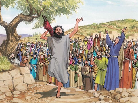 Then astonishment seized them all, and they glorified God. – Slide 13