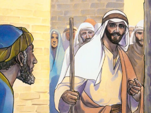 'Follow me,' Jesus said to him. And Matthew got up and followed Him. – Slide 2
