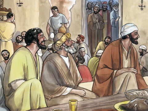 … many tax collectors and sinners came and ate with Jesus and His disciples. – Slide 4