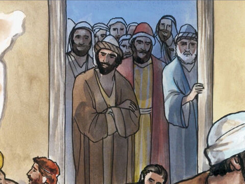 When the Pharisees saw this they asked His disciples … – Slide 5