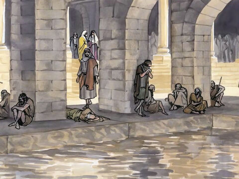 There was a Jewish feast, and Jesus went up to Jerusalem. Now there is in Jerusalem by the Sheep Gate a pool called Bethesda in Aramaic, which has five covered walkways. – Slide 1