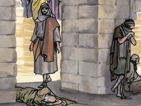 When Jesus saw him lying there and when He realised that the man had been disabled a long time already, He said to him, 'Do you want to become well?' – Slide 4